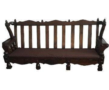 Spanish Colonial Wood Frame Sofa