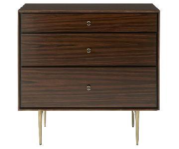 West Elm Heston Rosewood 3-Drawer Dresser