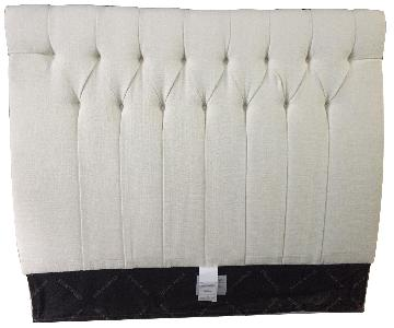 Ethan Allen Light Cream Tufted Headboard