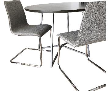 CB2 Peak 3-Piece Dining Set