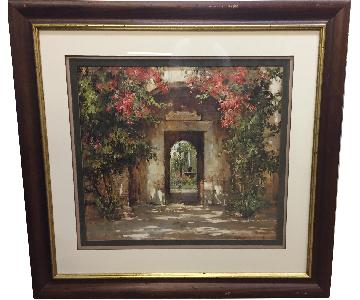 Ethan Allen Flower Doorway Picture