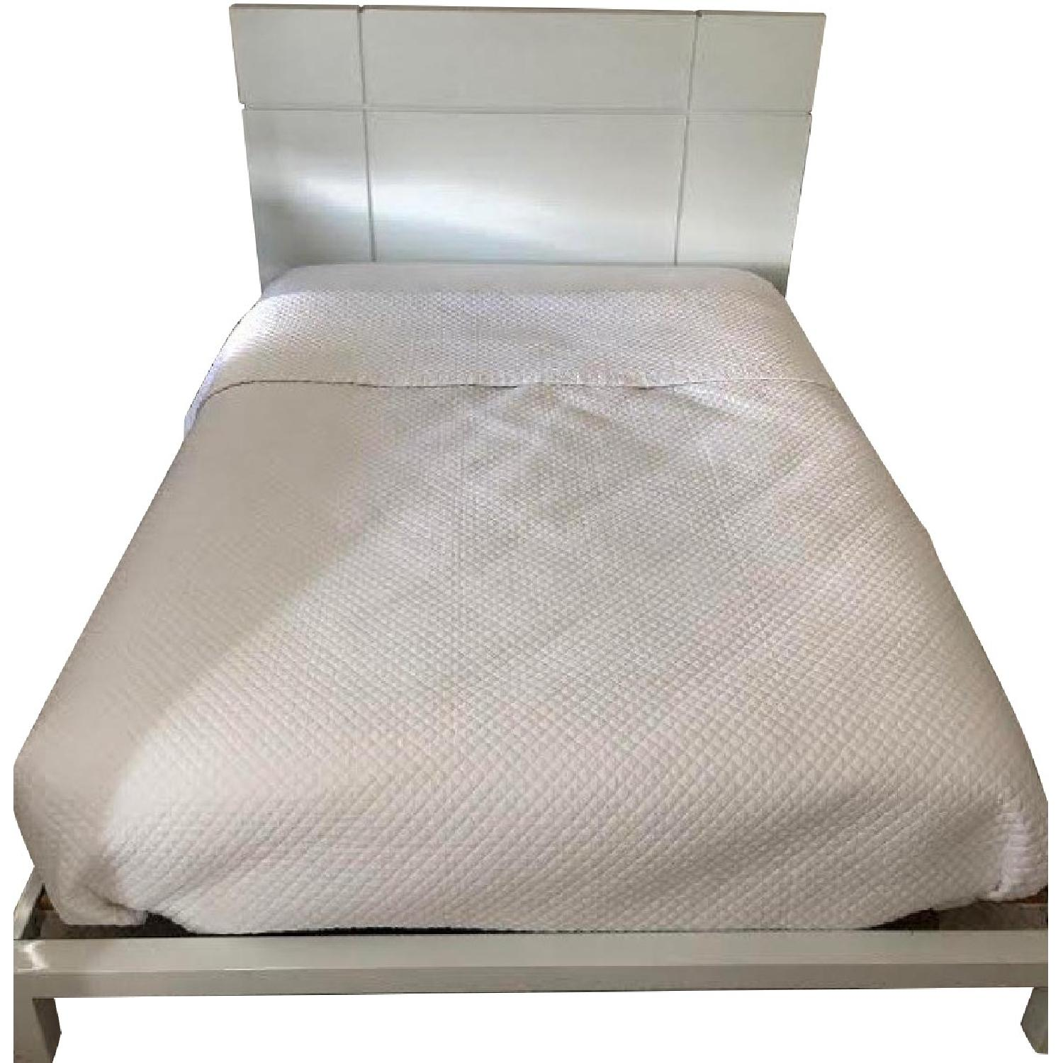Crate & Barrel White Lacquer Bed