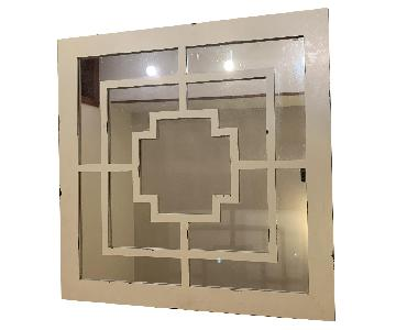 Ivory Antique Style Decorative Mirror