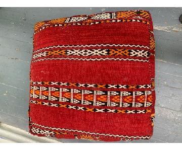Moroccan Berber Kilim Pouf