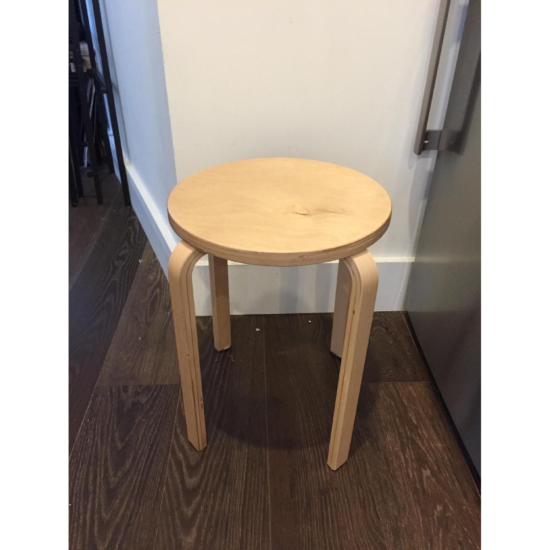 Amazing Ikea Wooden Stools Aptdeco Ncnpc Chair Design For Home Ncnpcorg