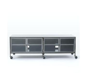 West Elm Industrial Metal Media Console