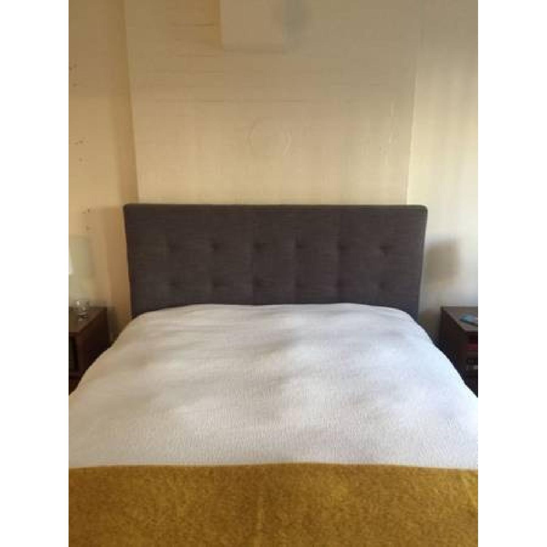 West Elm Grid Tuft Full Bed