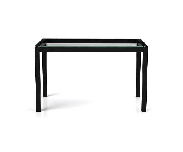 Crate & Barrel Counter Height Glass Dining Table