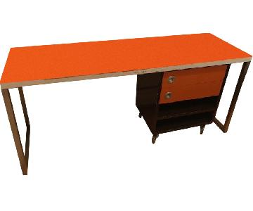 Vintage Art Deco Table/Desk w/ Matching Drawer Unit