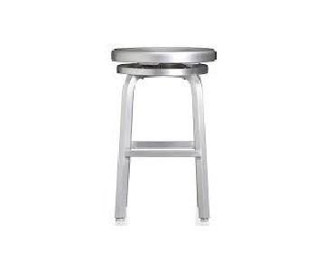 Crate & Barrel Spin Swivel Backless Counter Stool