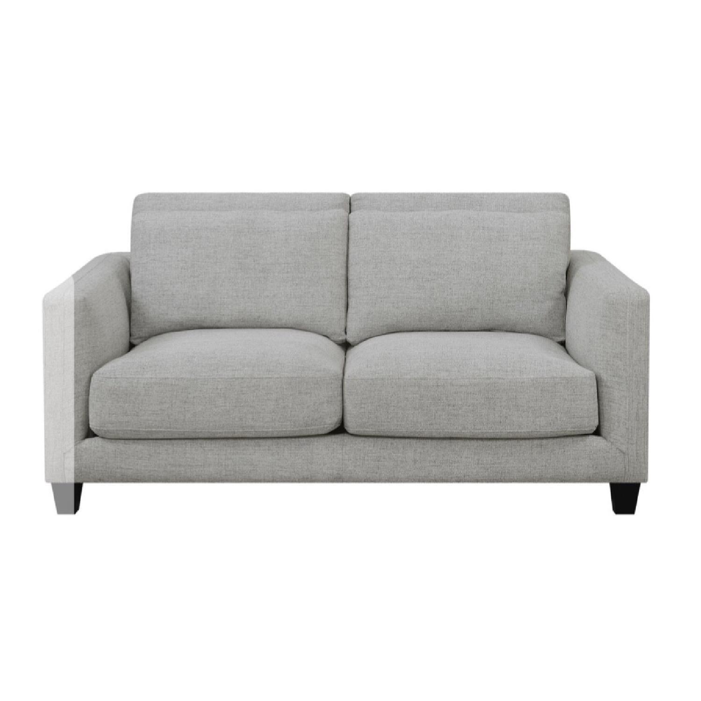 George Oliver Lancelot Double Cushion Grey Linen Loveseat