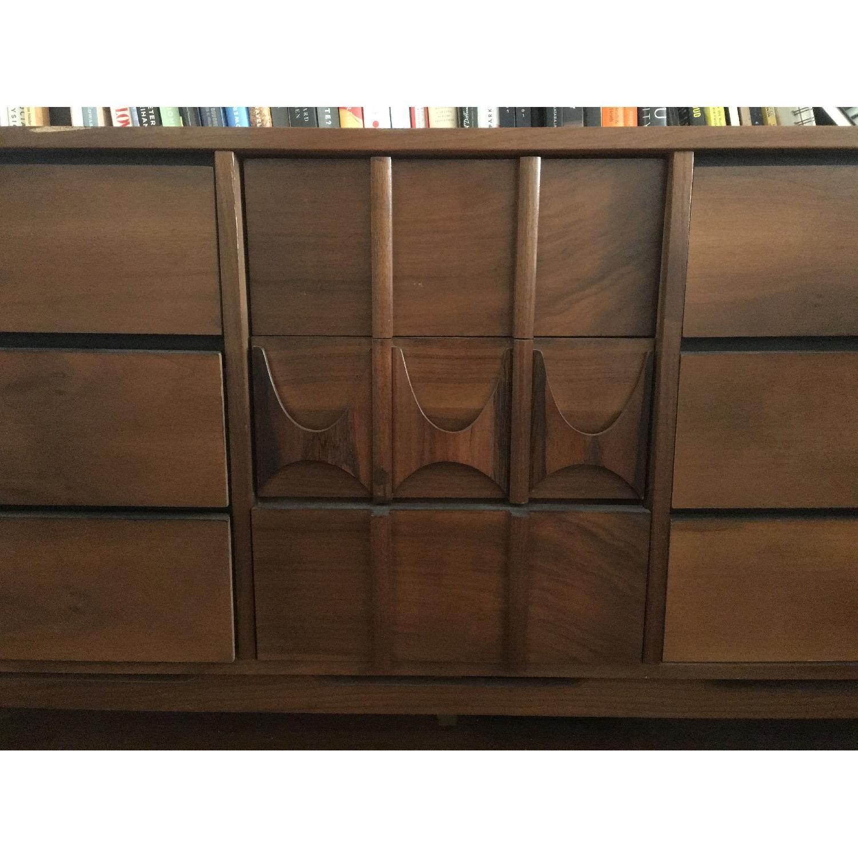 Solid Wood Mid-century Modern Credenza