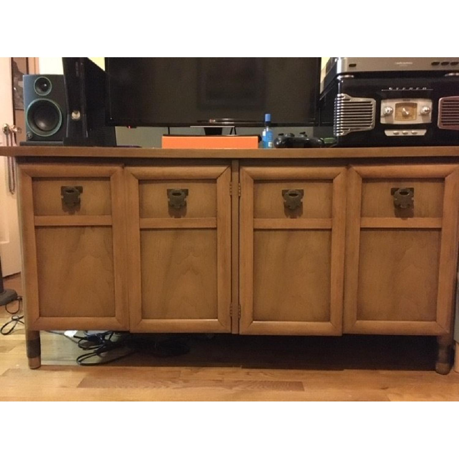 Wood Credenza/Entertainment Center-0