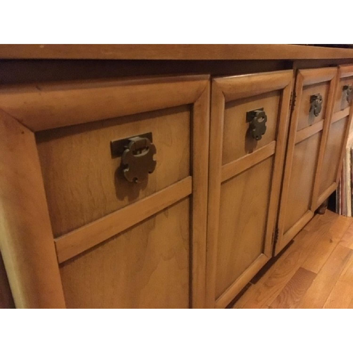 Wood Credenza/Entertainment Center-1