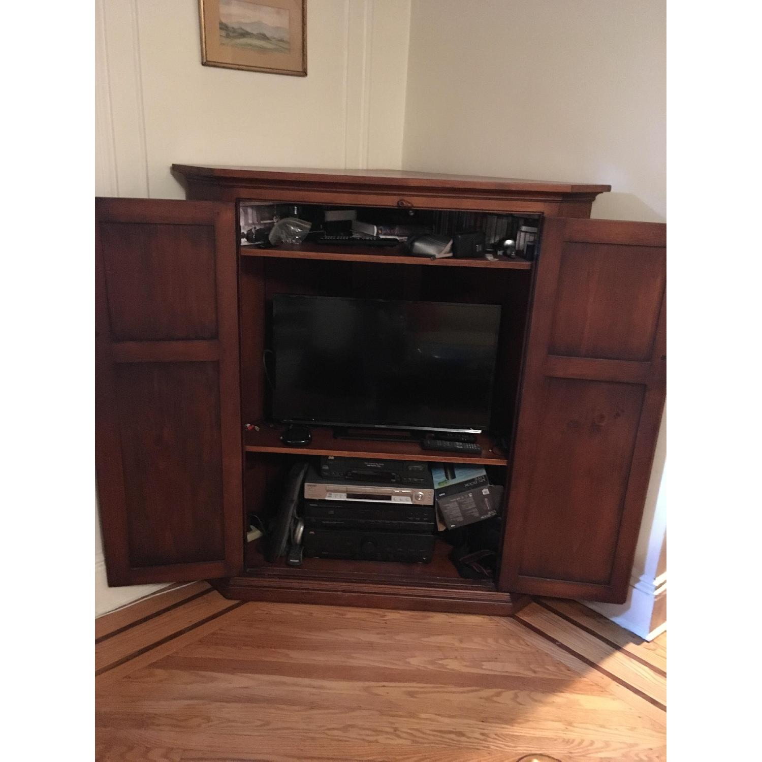 James Dew & Sons Handcrafted Corner Media Cabinet