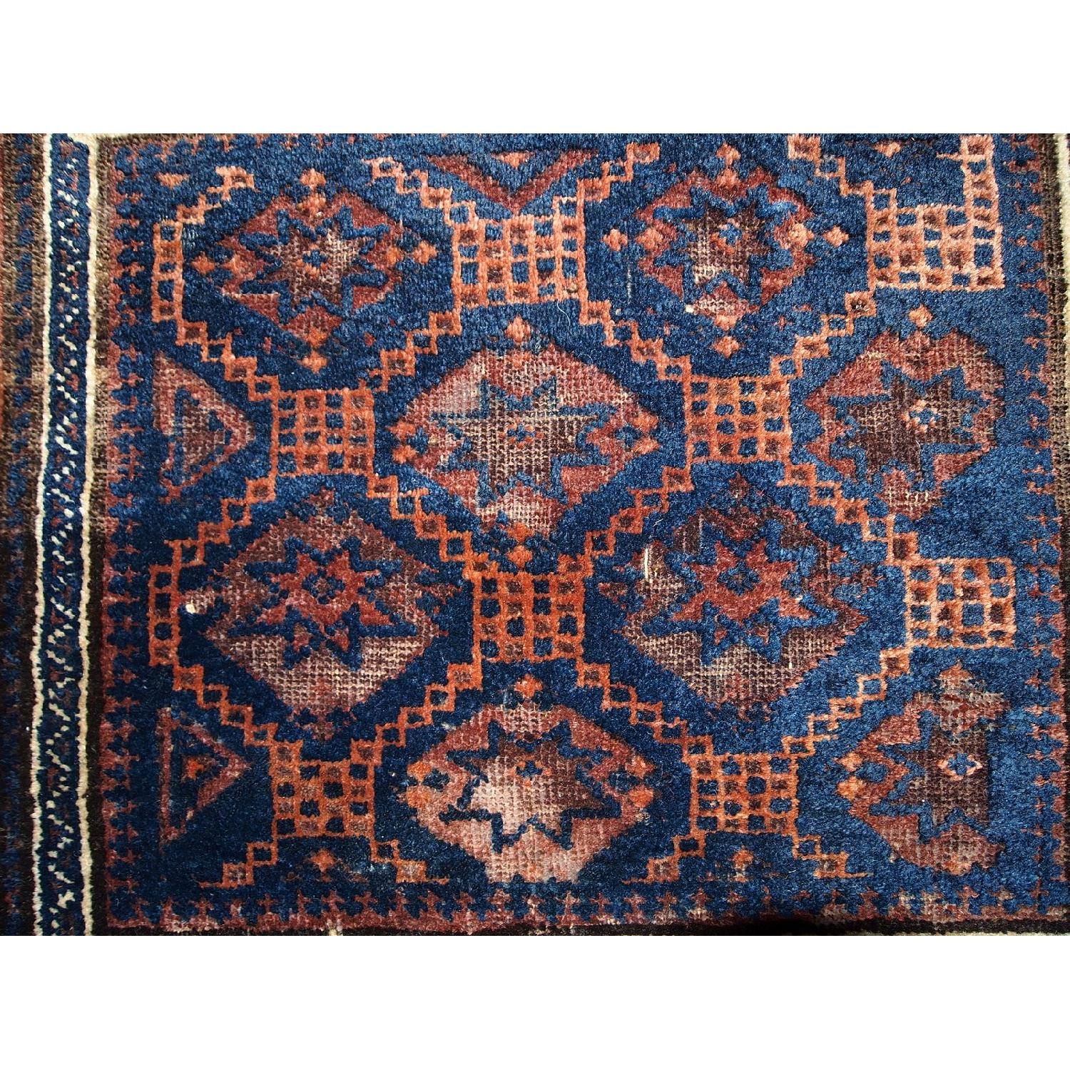 Antique Handmade Collectible Afghan Baluch Bag Face Rug - image-2