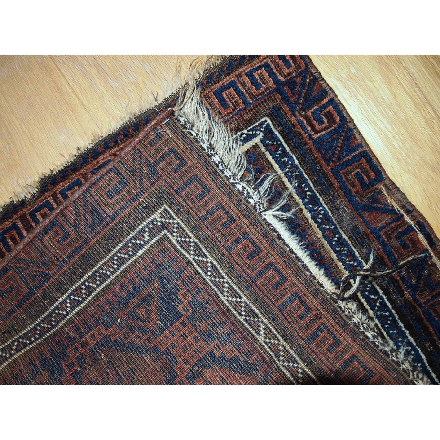 Antique Handmade Collectible Afghan Baluch Bag Face Rug - image-3