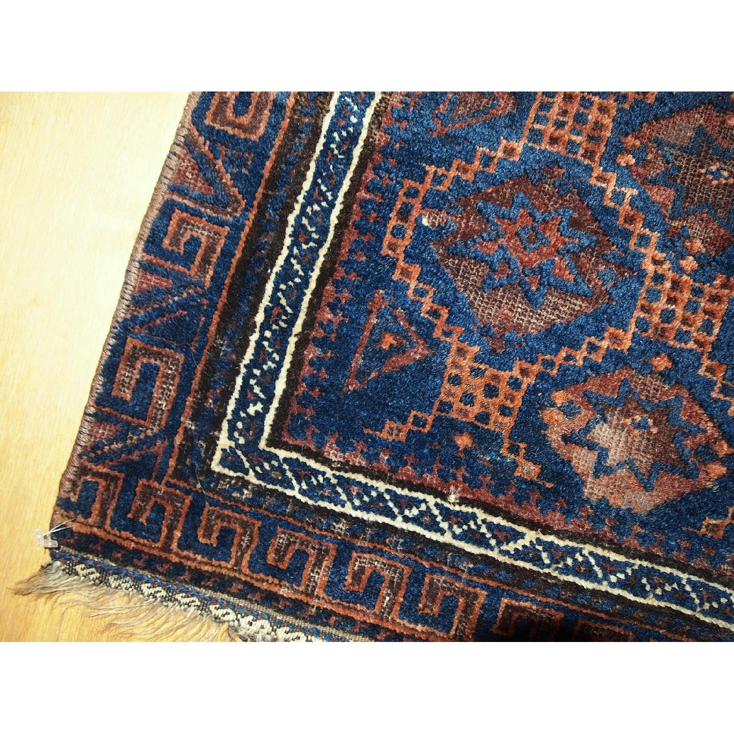 Antique Handmade Collectible Afghan Baluch Bag Face Rug - image-6