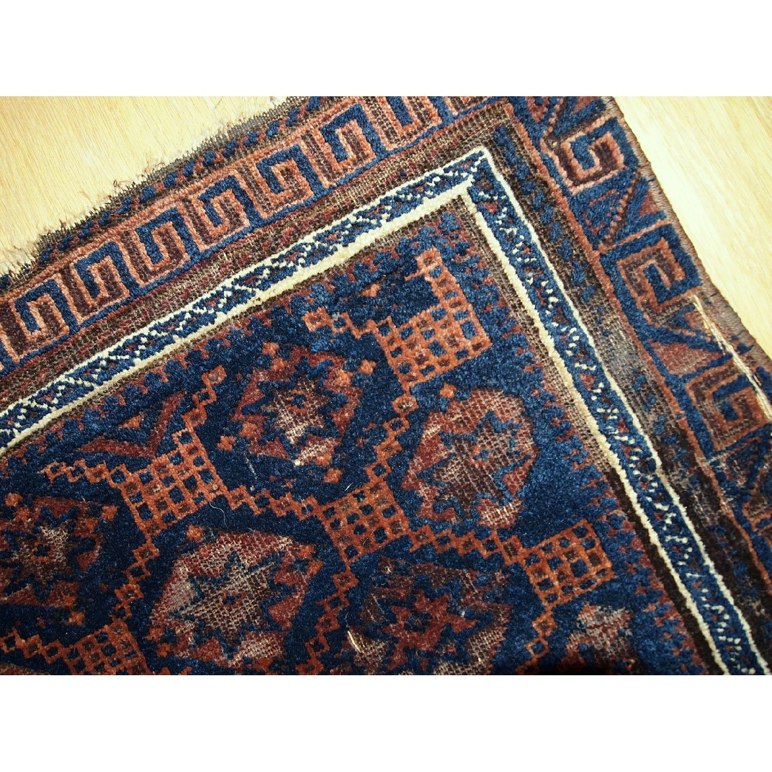 Antique Handmade Collectible Afghan Baluch Bag Face Rug - image-7