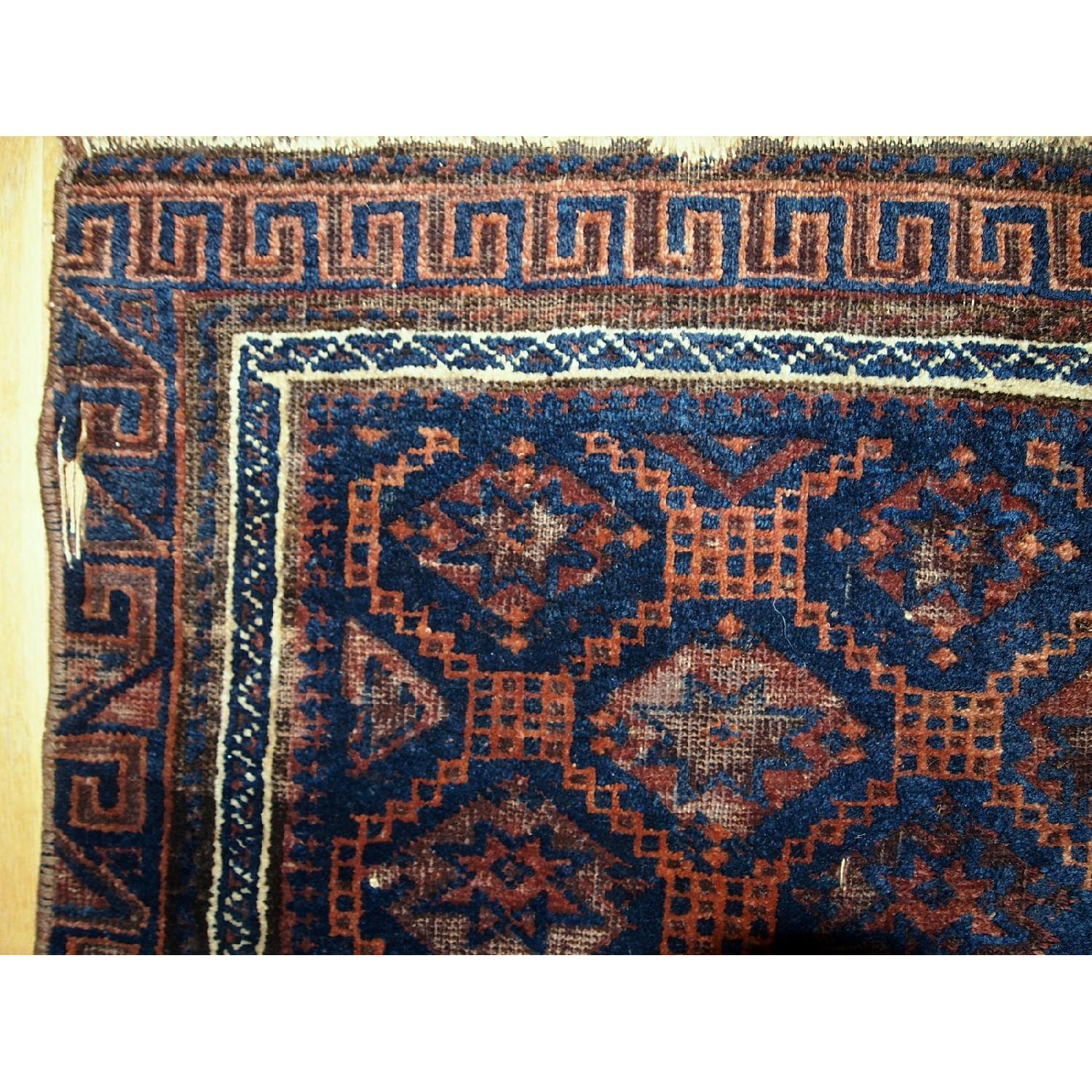 Antique Handmade Collectible Afghan Baluch Bag Face Rug-7