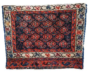 Antique Handmade Collectible Persian Malayer Bag Face Rug
