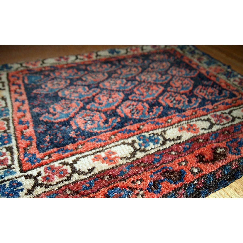 Antique Handmade Collectible Persian Malayer Bag Face Rug