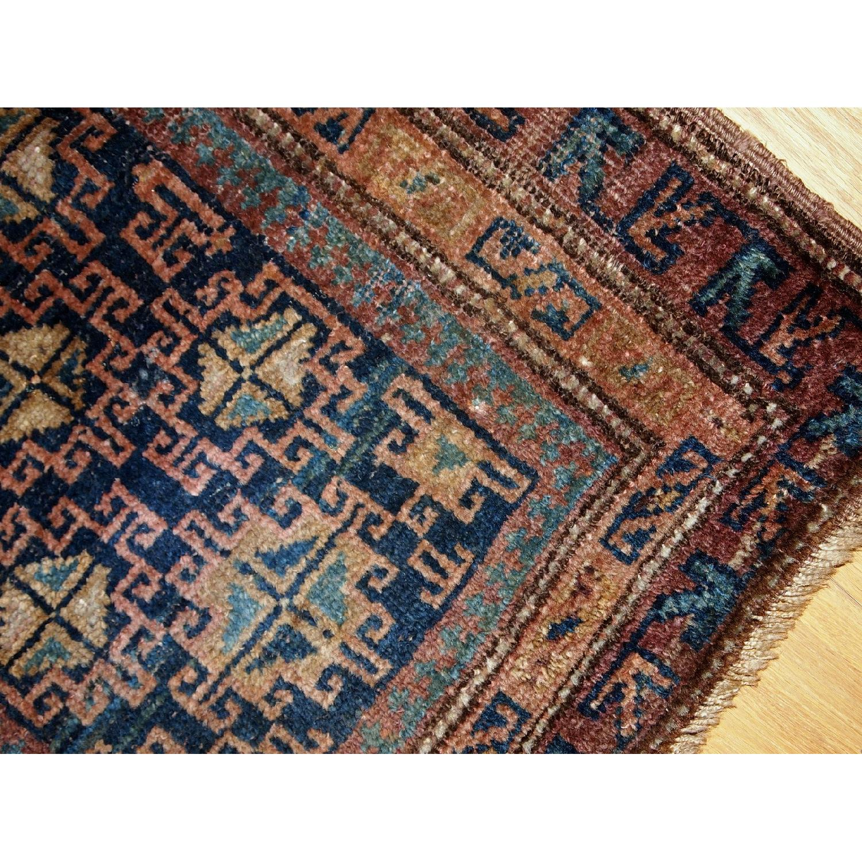 Antique Handmade Persian Kurdish Rug