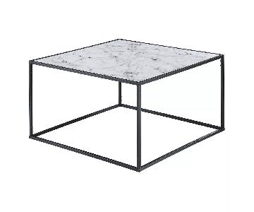 Target Faux White Marble & Metal Coffee Table