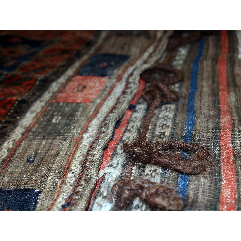 Antique Handmade Afghan Baluch Salt Bag Rug-3