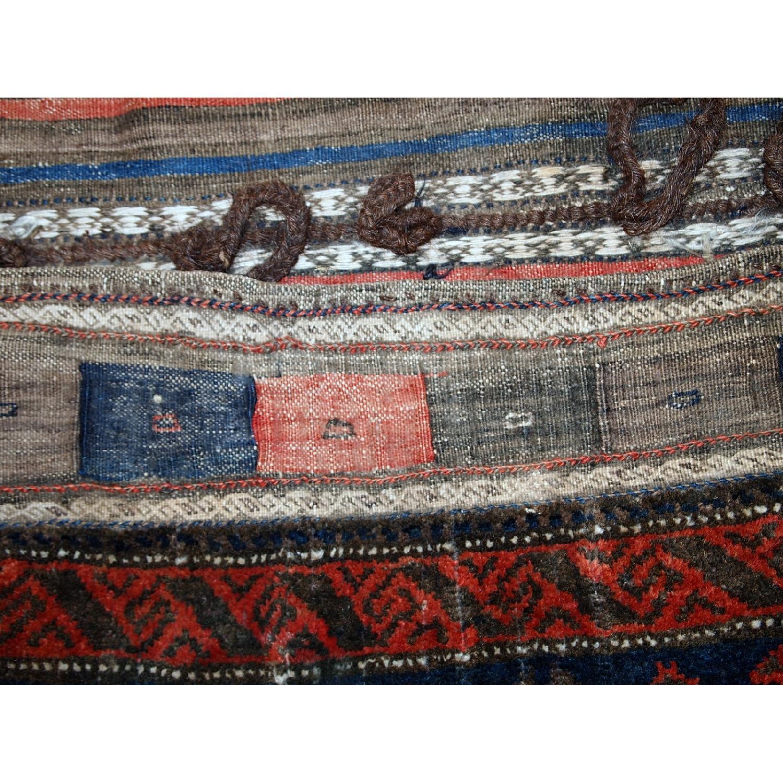 Antique Handmade Afghan Baluch Salt Bag Rug-5