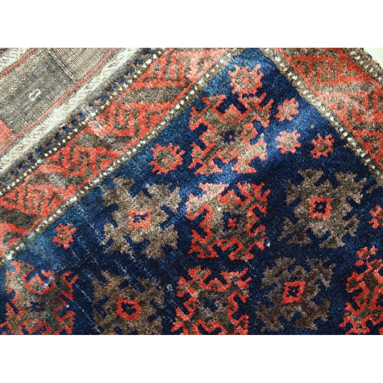Antique Handmade Afghan Baluch Salt Bag Rug-6
