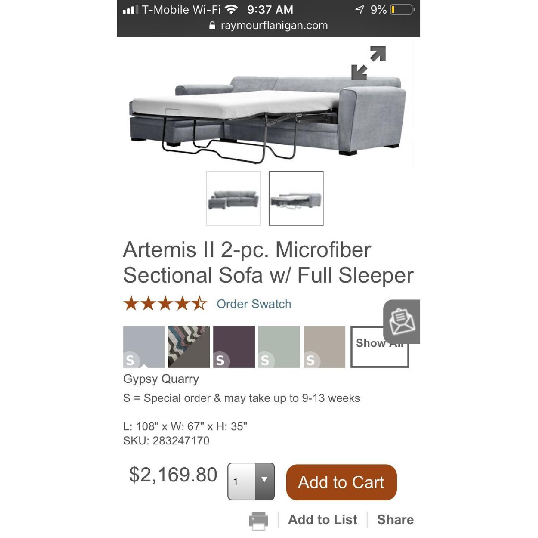 Raymour & Flanagan Artemis II Full Sleeper Sectional Sofa - image-5