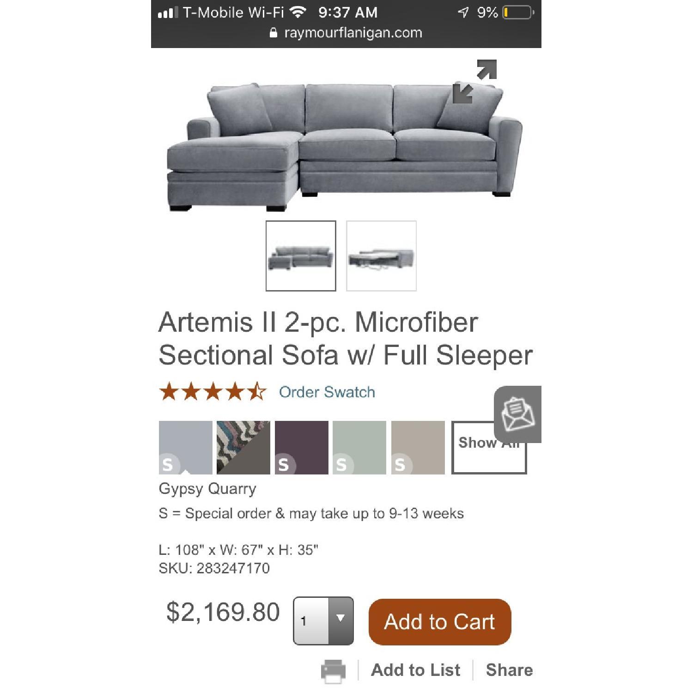 Raymour & Flanagan Artemis II Full Sleeper Sectional Sofa - image-6