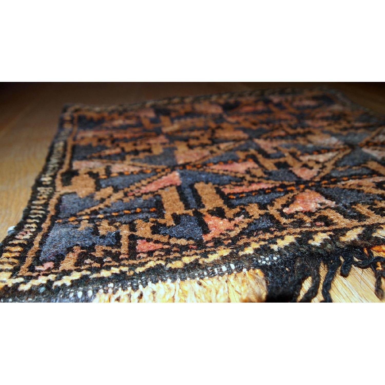 Antique Handmade Collectible Uzbek Bag Face Rug-0
