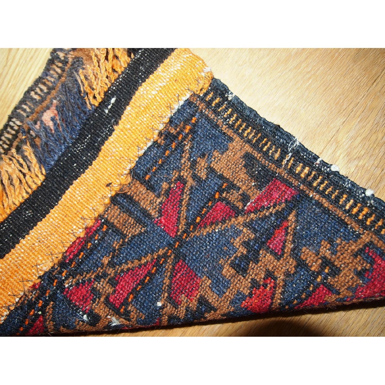 Antique Handmade Collectible Uzbek Bag Face Rug-3