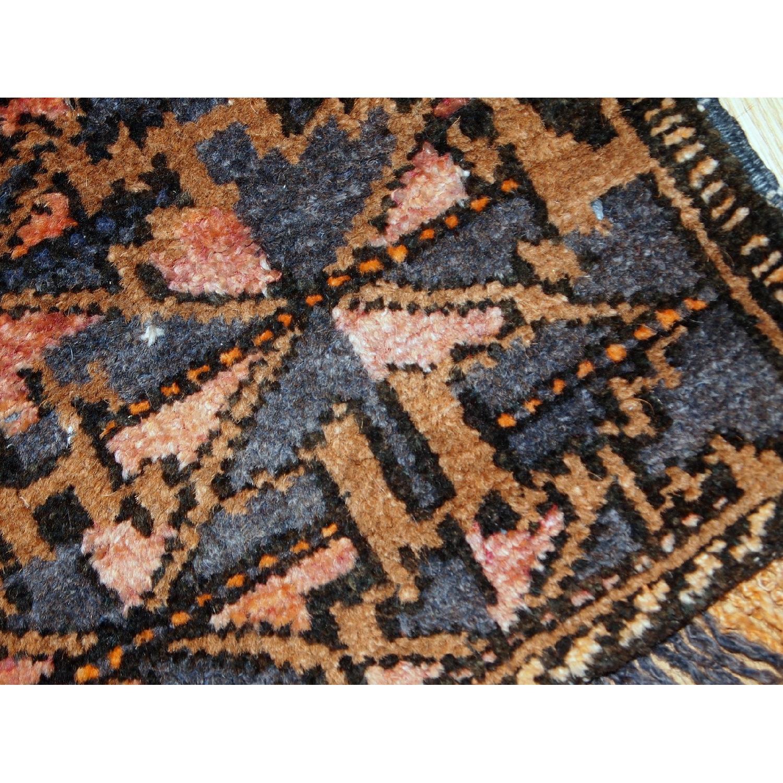 Antique Handmade Collectible Uzbek Bag Face Rug-6