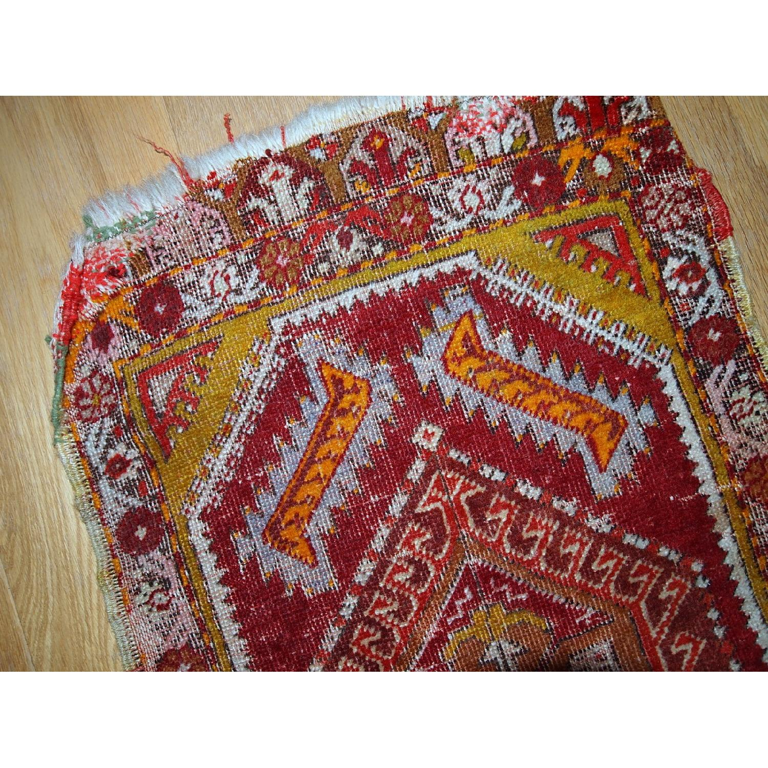Antique Handmade Collectible Turkish Yastik Rug