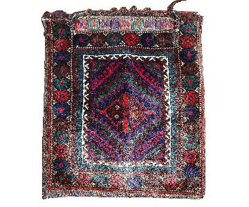 Antique Handmade Persian Kurdish Salt Bag Rug