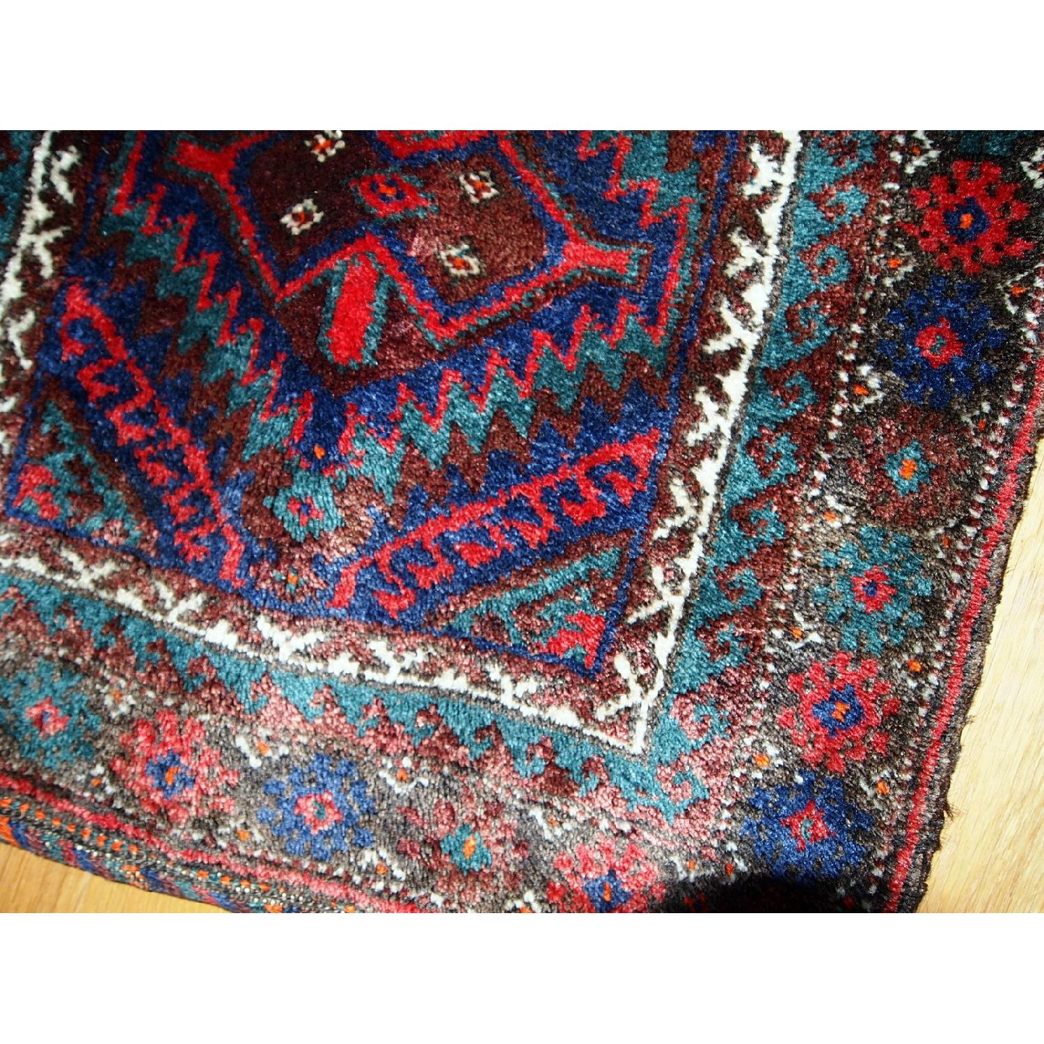 Antique Handmade Persian Kurdish Salt Bag Rug - image-8