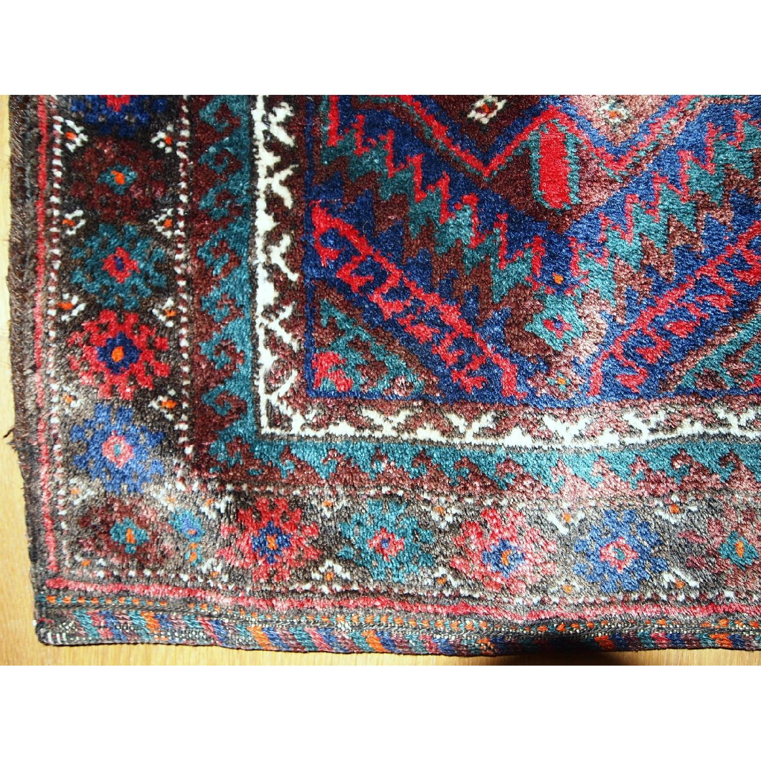 Antique Handmade Persian Kurdish Salt Bag Rug - image-9