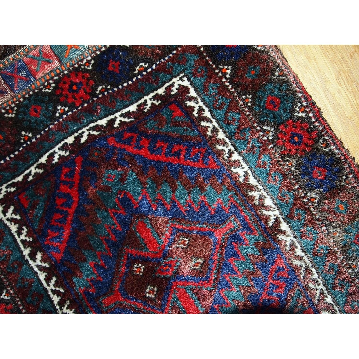 Antique Handmade Persian Kurdish Salt Bag Rug-9