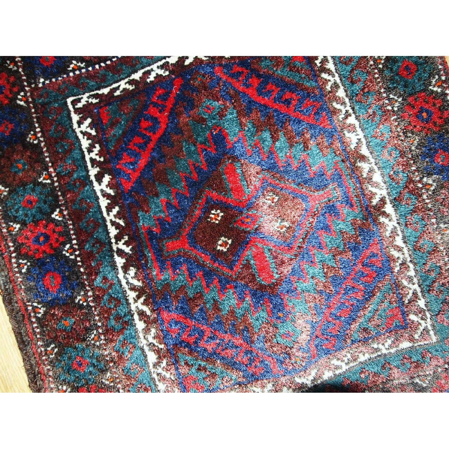 Antique Handmade Persian Kurdish Salt Bag Rug - image-12
