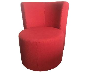 Cor Modern Swivel Armchair in Red