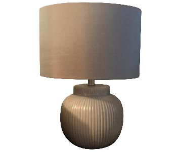 Light Blue/Gray Ceramic Table Lamps