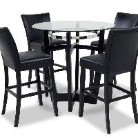 Bob's Matinee Glass Dining Table w/ 4 Chairs