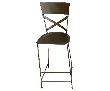 Antique Nickel Iron Bar Stools