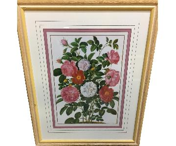 Ethan Allen Flower Paintings