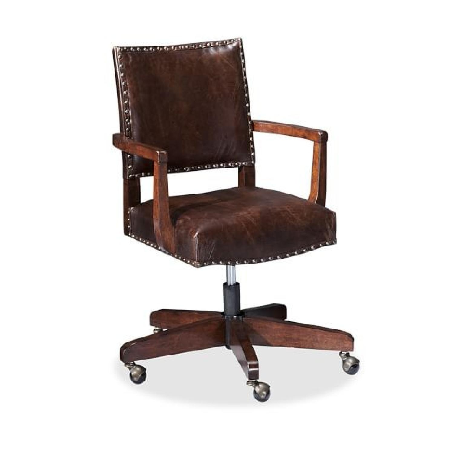 Pottery Barn Manchester Leather Swivel Desk Chair