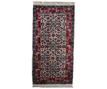 Vintage Handmade Indian Agra Rug