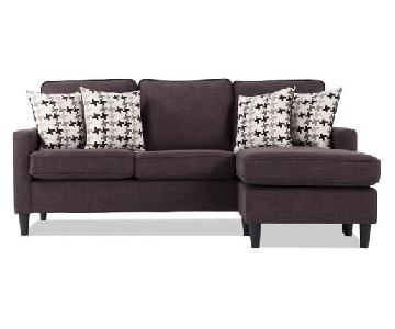 Bobs Malibu Sectional Sofa w/ Reversible Chaise